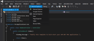 Select Browse with in Visual Studio