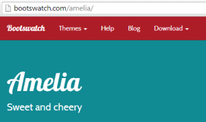 Amelia Bootswatch Theme